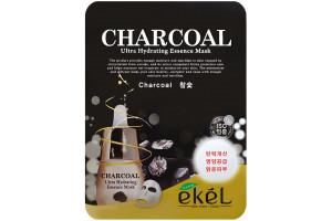 Ekel Charcoal Ultra Hydrating Essence Mask маска с древесным углем