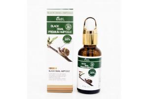 Ekel Black Snail Premium Ampoule ампульная сыворотка для лица с муцином улитки
