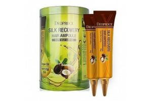 Deoproce Silk Recovery Hair Ampoule восстанавливающие ампулы для волос (10шт*10гр)