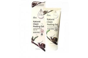 Ekel Natural Clean Peeling Gel Black Snail пилинг-скатка с экстрактом черной улитки (180 мл)