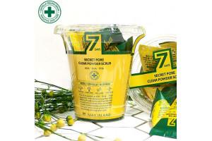 MAY ISLAND 7 Days Secret Pore Clear Powder Scrub лечебный скраб против проблемной кожи (12 пирамидок)
