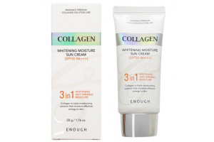 Enough Collagen 3in1 Whitening Moisture Sun Сream SPF50 PA+++ солнцезащитный крем с морским коллагеном