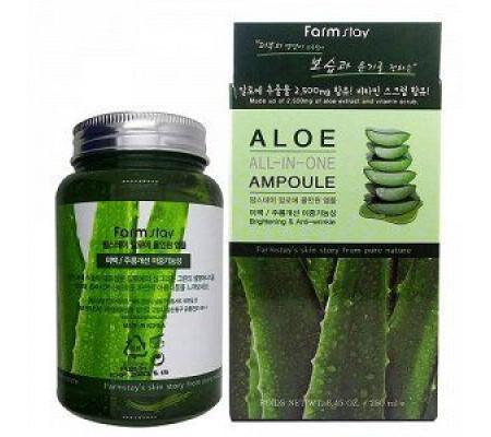 FarmStay Aloe All-In One Ampoule ампульная сыворотка с экстрактом Алоэ Вера
