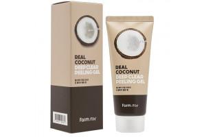 Farm Stay Deep Clear Peeling Gel пилинг-скатка с экстрактом кокоса