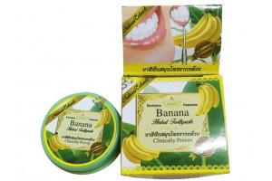 Отбеливающая зубная паста Rochjana с экстрактом гвоздики и банана (30 гр, Тайланд)