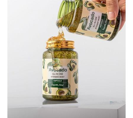 Farm Stay Avocado All-in-one Intensive Moist Ampoule многофункциональная ампульная сыворотка с экстрактом авокадо (250 мл)