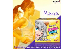 Прокладки гигиенические женские Maneki (мини) серия Neko-mimi (180мм, 9 шт)