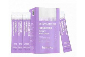 Farm Stay Derma Cube Probiotics Therapy Night Cream Антивозрастной ночной крем с пробиотиками (4 мл)