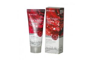 3W Clinic Rose Water Cleansing Foam увлажняющая пенка для умывания с розовой водой (100 мл)