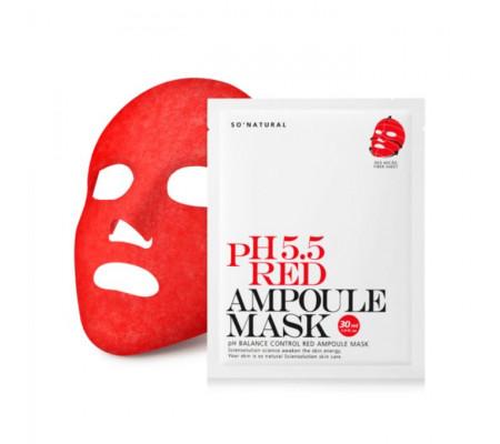 So Natural 5.5 Red Ampoule Mask cлабокислотная восстанавливающая маска (30 мл)