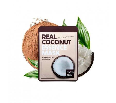 FarmStay Real Coconut Essence Mask тканевая маска с экстрактом кокоса