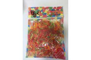 Color Band полиуретановые резинки для волос (черные, 100шт)