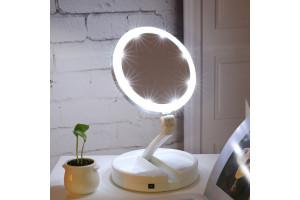 Настольное зеркало для макияжа с LED-подсветкой