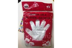 Disposible Plastic Gloves перчатки полиэтиленовые (одноразовые), 100шт