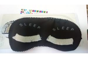 """Eye Mask стереоскопическая маска-очки для сна """"Реснички"""" (серая)"""