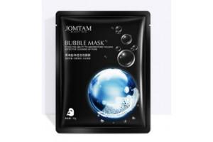JomTam Black Sea Salt Bubble Mask пузырьковая маска на тканевой основе с морской солью