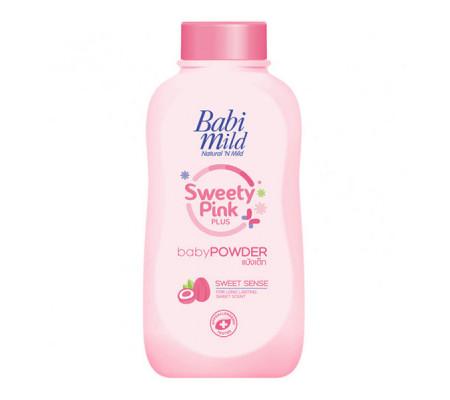 Babi Mild Sweety Pink Plus детская присыпка-пудра с маслом Ши