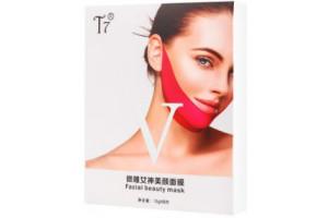 T7 Facial Beauty Mask тканевая маска на гелевой основе для овала