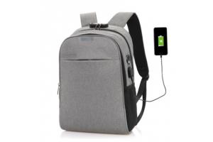 Городской рюкзак Анти-вор с Usb зарядкой (серый)