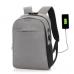 Городской рюкзак Анти-вор с Usb зарядкой и кодовым замком (серый)