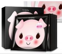 One Spring Small Pig маска со свиным коллагеном и йогуртом (черная)