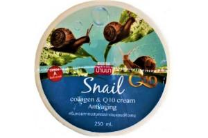 "Banna SNAIL Collagen&Q10 Anti-Aging омолаживающий крем для тела ""Улитка, Коллаген, Коэнзим"""