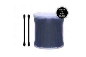 Ватные палочки черного цвета (200 шт)