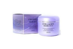 Jigott Collagen Healing Cream ночной питательный крем с коллагеном