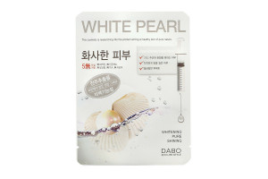 Dabo White Pearl First Solution Mask Pack маска осветляющая с жемчугом