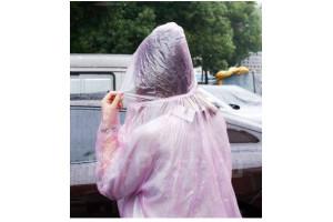 Плащ-дождевик тонкий универсальный размер