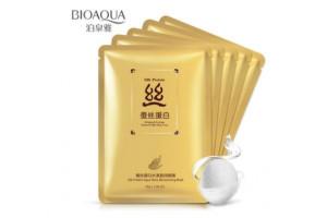 BioAqua Silk Protein Aqua Shiny mask тканевая маска с протеином шелка