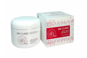 3W CLINIC Snail Mucus Sleeping Pack ночная маска со слизью улитки