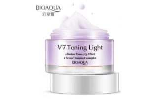 BioAqua V7 Toning Light корректирующая основа под макияж (сиреневая)