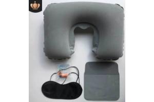 Набор путешественника: подушка для шеи, маска для сна, беруши, чехол