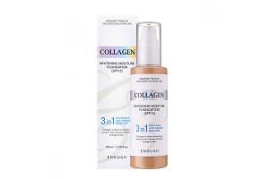 Enough collagen whitening moisture foundation SPF 15 Антивозрастной тональный крем с коллагеном 3 в 1 (№13 светло-беж)
