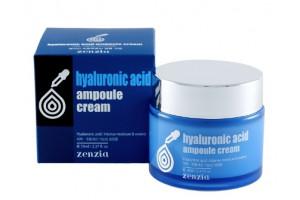 Zenzia Hyaluronic Acid Ampoule Cream крем с гиалуроновой кислотой