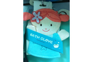 "Vovose Bath Glove детская мочалка-варежка для душа ""Девочка"""