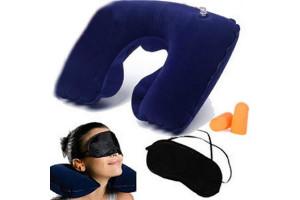 Набор путешественника: подушка для шеи, маска для сна, беруши