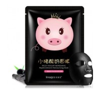 Images Piggy Yogurt маска со свиным коллагеном и йогуртом (черная)