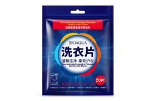 BioAqua Concentrated Laundry Formula салфетки для стирки белья, 20шт