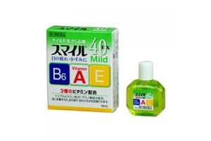 LION SMILE 40EX MILD витаминные капли для глаз (зеленые, индекс свежести 2)