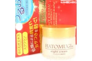Daiso Hatomugi Night Cream ночной крем на основе Сквалена