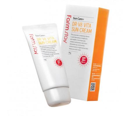 Farm Stay DR-V8 Vita Sun Cream SPF50+ PA+++ солнцезащитный крем с витаминами