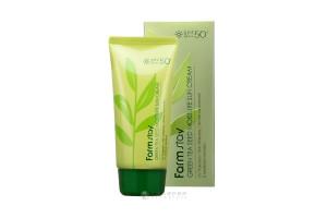 Farm Stay Green Tea Seed Moisture Sun Cream SPF50/PA+++ солнцезащитный крем с зелёным чаем (70 гр)