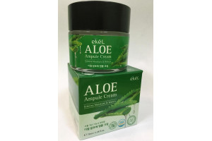 Ekel Aloe Ampule Cream успокаивающий ампульный крем с алоэ