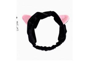 """Косметическая повязка на голову  """"Кошечка"""" (черная)"""