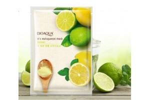 Маска с экстрактом лимона против усталости, BioAqua