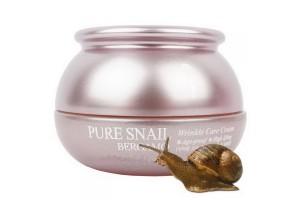 Bergamo Pure Snail Wrinkle Care Cream омолаживающий улиточный крем