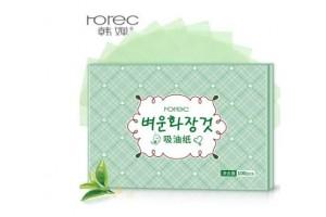 Матирующие салфетки от жирного блеска от Rorec (100 шт)