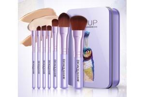 BioAqua Make Up Beauty набор кистей для макияжа (7шт, голубой)